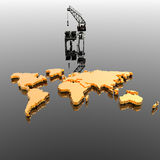World map with  Drilling Platform Royalty Free Stock Photos