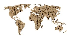World map of dry ground Royalty Free Stock Images