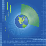 World map dynamic. Whit binary code abstract background Royalty Free Stock Image