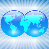 World map-Earth Royalty Free Stock Photography