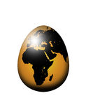 World map egg isolated over white Stock Image