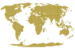 World map from electronic chip Royalty Free Stock Photography