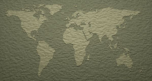 World Map Embossed Details Royalty Free Stock Image