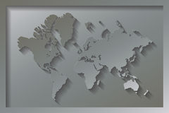 World Map Embossed Royalty Free Stock Image