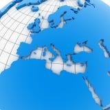 World map - europe Stock Image