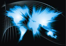 World map with every continent. As nice background Royalty Free Stock Photo