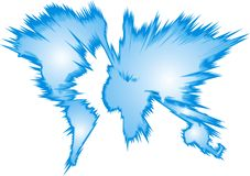 World map with every continent. As nice background Stock Photography