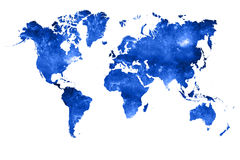 World map filled with space photograph Royalty Free Stock Photo