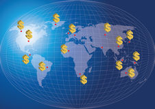 World Map Finance Concept. Stock Photo