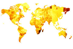 World map on fire Stock Photography
