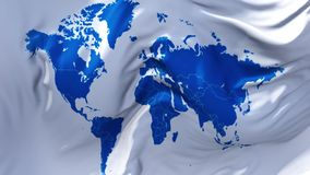 339. World Map Flag Waving in Wind Continuous Seamless Loop Background. stock illustration