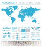 World Map and Flags - borders, countries and cities - infographic illustration vector illustration