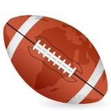 World map football ball Stock Photo