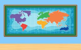 A World Map in Frame Royalty Free Stock Image