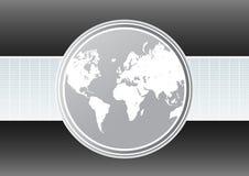 World map futuristic background Stock Images