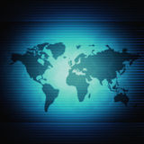 World Map Futuristic Background. World Map With Futuristic Blue  Lines Background Stock Image