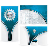 World Map futuristic background brochure Stock Photo