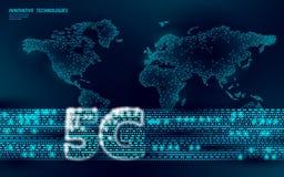 World map 5G internet web global connection information transmitter. High speed mobile radio antenna cellular. Data. Exchange vector illustration royalty free illustration