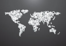 World Map gear Royalty Free Stock Images