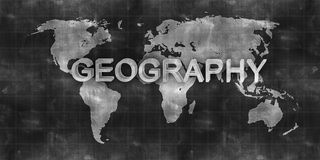 World map geography draw on chalkboard Stock Photography