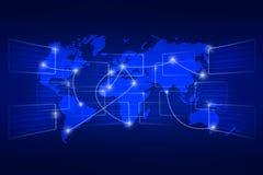 World map geography world order background shipping blue royalty free illustration