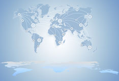 World Map. global business between states. Royalty Free Stock Image