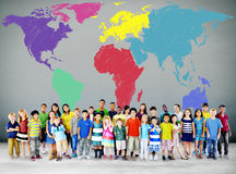World Map Global International Globalisation Concept.  stock photos