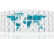 World map global network stock photography