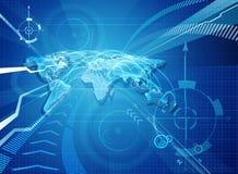 World Map Globalisation Background Stock Images