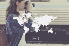 World Map Globalization Cartography Global Planet Concept Stock Images