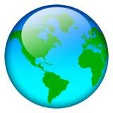 World map globe. Blue world map globe isolated on white vector illustration