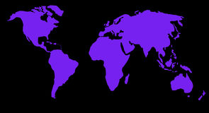 World map or globe Stock Images