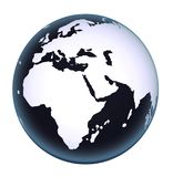World map globe 3D vector illustration