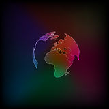 World Map and Globe Detail Royalty Free Stock Photos