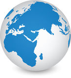 World Map and Globe Detail. Stock Photos