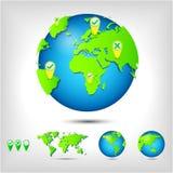 World map. Globe. Stock Photos
