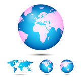 World map. Globe. Royalty Free Stock Photos