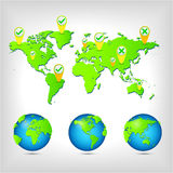 World map. Globe. Royalty Free Stock Photo