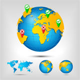 World map. Globe. Royalty Free Stock Photography