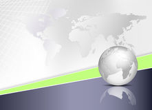 World map and globe - global business background Stock Photography