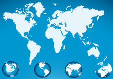 World map with globe icon Royalty Free Stock Images