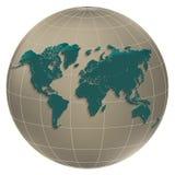 World map globe light globus Stock Photo