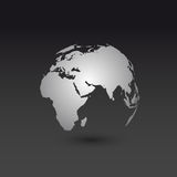 World map globe template Stock Image