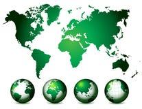 World Map and globe Royalty Free Stock Photos