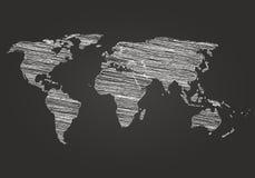 World Map Globe Vector line Sketch Stock Photo