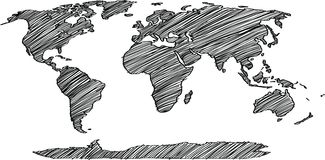 World map globe vector line sketch up illustrator stock vector world map globe vector line sketch up illustrator royalty free stock photos gumiabroncs Images