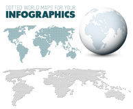 World map and globe for your infographics royalty free illustration