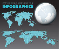 World map and globe for your infographics Stock Photo