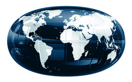 A world map - glossy f1s Royalty Free Stock Images