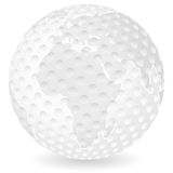 World map golf ball Royalty Free Stock Photos